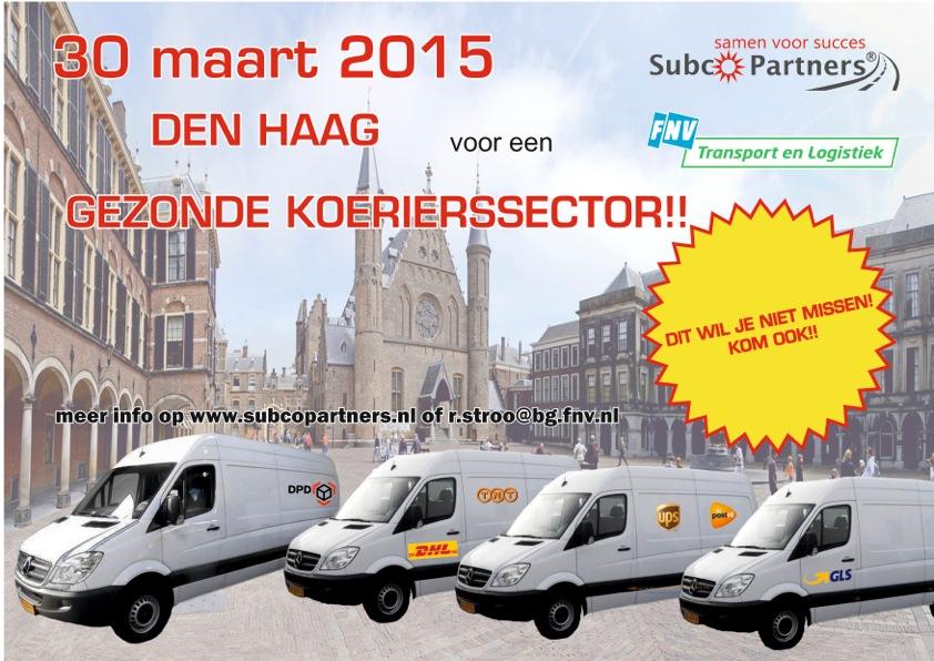 30 Maart naar de Regering in Den Haag